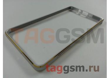Бампер для Samsung A7 / A700F (серебро)