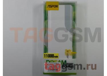 Портативное зарядное устройство (Power Bank) (Aspor A399, 2USB выхода 1000mAh  /  2000mAh) Емкость 11000mAh (бело-серое)
