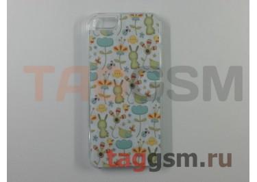 "Задняя накладка K.Win для Apple iPhone 5 (""Зайки и цветочки"")"