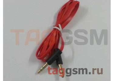 Аудио-кабель aux металлический красный