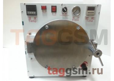 Барокамера (автоклав) для склейки дисплейного модуля (диаметр 20,5см; глубина 36см)