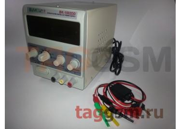 Источник питания BAKU BK-1502DD (15 V, 2A, защита по току)