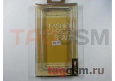 """Бампер для iPhone 6 / 6S (4.7"""") (металлический, серебро) Fashion Case"""