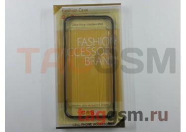 """Бампер для iPhone 6 / 6S (4.7"""") (металлический, черный) Fashion Case"""