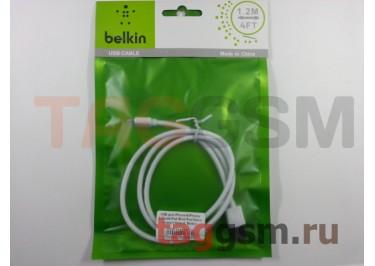 USB для iPhone 7 / iPhone 6 / iPhone 5 / iPad4 / iPad Mini / iPod Nano (пакет) белый, Belkin