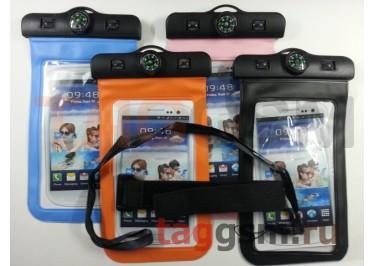Влагозащитный чехол для смартфона с компасом (в ассортименте)