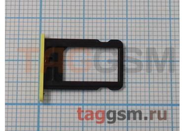 Держатель сим для iPhone 5C (желтый)