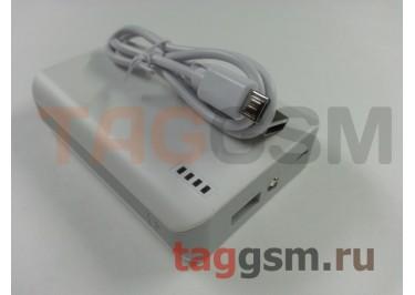 Портативное зарядное устройство (Power Bank) (HSW-4S, 1USB выход 2100mAh) Емкость 6000mAh (белое)