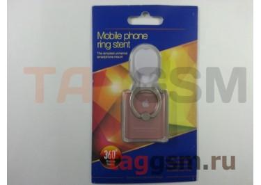 Держатель для мобильных телефонов 360 градусов (с автомобильным держателем крючок) Apple (розовое золото)