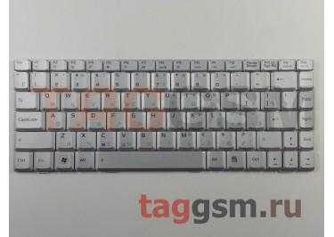 Клавиатура для ноутбука Asus F9 / F9S / F9E / F9D / F9F / F9G / F6 / F6V / U3 / U3S / U6 / U6E / U6V (серебро)