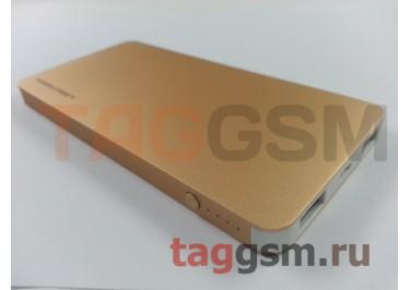 Портативное зарядное устройство (Power Bank) (Parkman Boss T1) (2USB выхода 1000mAh  /  2100mAh) Емкость 6200mAh (золото)