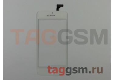 Стекло + тачскрин для iPhone 5 (белый)