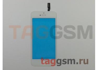 Стекло + тачскрин для iPhone 5S / SE / 5C (белый), (олеофобное покрытие) ААА