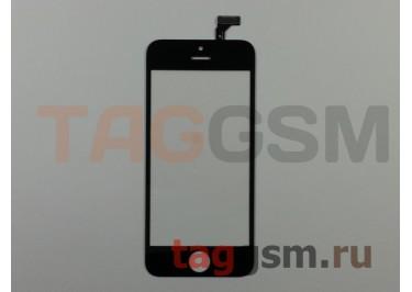 Стекло + тачскрин для iPhone 5 (черный)