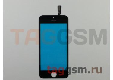 Стекло + тачскрин для iPhone 5S / SE / 5C (черный), (олеофобное покрытие) ААА