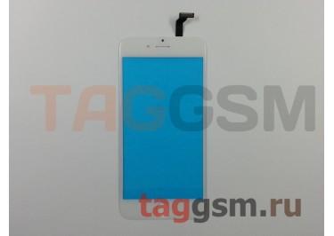 Стекло + тачскрин для iPhone 6 (белый), (олеофобное покрытие) ААА