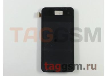 Дисплей для Nokia 530 Lumia + тачскрин (черный) + рамка