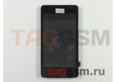 Дисплей для Microsoft 430 Lumia + тачскрин (черный) + рамка
