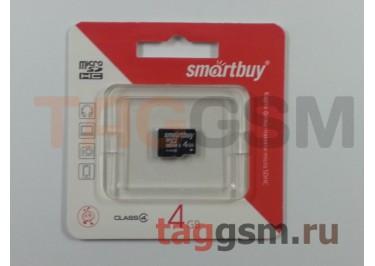 Micro SD 4Gb Smartbuy Class 4 без адаптера