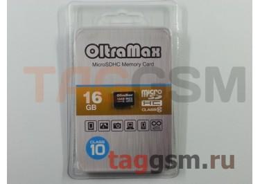 Micro SD 16Gb OltraMax Class 10 без адаптера