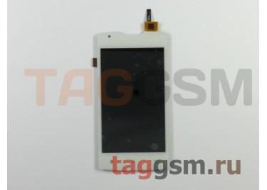 Дисплей для Lenovo A1000 + тачскрин (белый) (телефон)