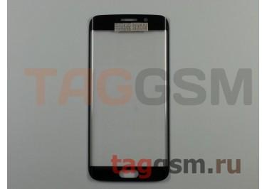 Стекло для Samsung G925F Galaxy S6 Edge (синий), ориг