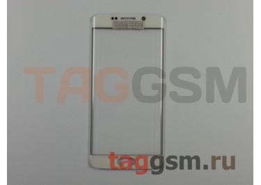Стекло для Samsung G925F Galaxy S6 Edge (белый), ориг