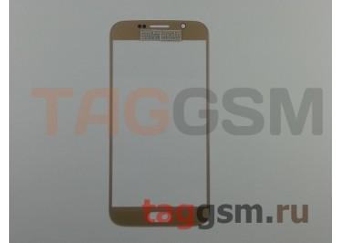 Стекло для Samsung G920F Galaxy S6 (золото) ААА