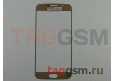 Стекло для Samsung G920F Galaxy S6 (золото)