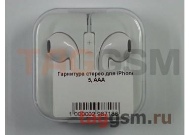 Гарнитура стерео для iPhone 5, ААА