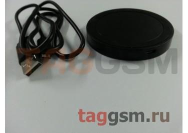 Беспроводное зарядное устройство стандарта Qi, круглое (черный)