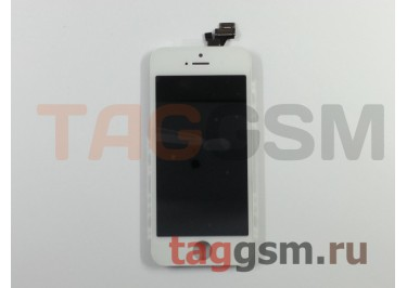 Дисплей для iPhone 5 + тачскрин белый AA (без гарантии)