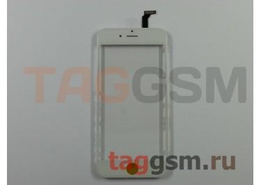 Стекло + тачскрин + рамка для iPhone 6 (белый), (олеофобное покрытие) ААА
