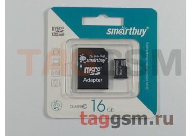 Micro SD 16Gb Smartbuy Class 10 с адаптером SD