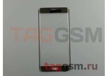 Стекло для Samsung G928F Galaxy S6 Edge Plus (золото), ААА