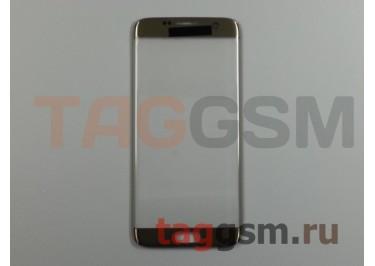 Стекло для Samsung G935 Galaxy S7 Edge (золото), ААА