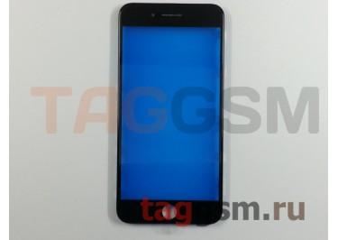 Стекло + рамка для iPhone 7 Plus (черный), (олеофобное покрытие) ААА