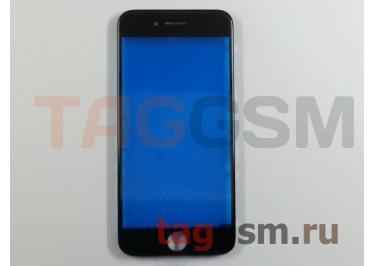 Стекло + рамка для iPhone 7 (черный), (олеофобное покрытие) ААА