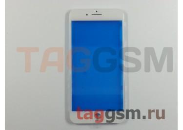 Стекло + рамка для iPhone 7 Plus (белый), (олеофобное покрытие) ААА