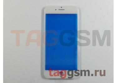 Стекло + рамка для iPhone 7 (белый), (олеофобное покрытие) ААА