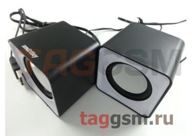 Колонки мультимедийные SmartBuy MINI, мощность 4Вт, USB, серые (SBA-2810)