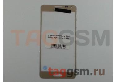 Стекло для Samsung G850 Galaxy Alpha (золото), AAA