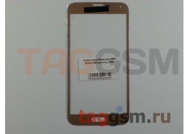 Стекло для Samsung G900 Galaxy S5 (золото), ААА