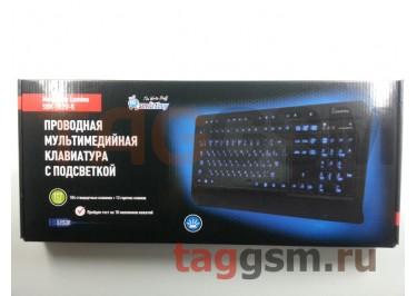 Клавиатура проводная Smartbuy мультимедийная с подсветкой 302 USB Black (SBK-302U-K)
