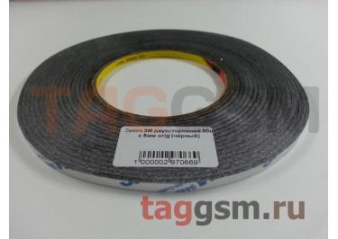 Скотч 3M двухсторонний 50м х 5мм (черный), ориг