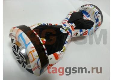 Гироскутер Smart Balance 8''. BT-плеер, LED ходовые огни, АКБ samsung, цвет белый-граффити