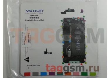 Магнитный коврик для разбора iPhone 4 (карта винтов)