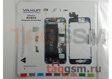 Магнитный коврик для разбора iPhone 5 (карта винтов)