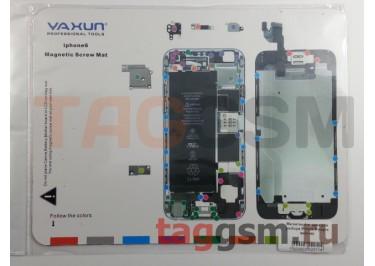 Магнитный коврик для разбора iPhone 6 (карта винтов)