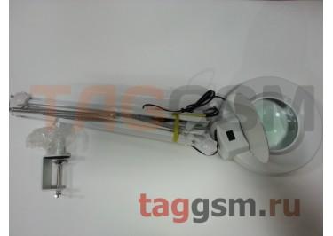 Лампа с лупой и подсветкой YAXUN YX-168 (на струбцине)